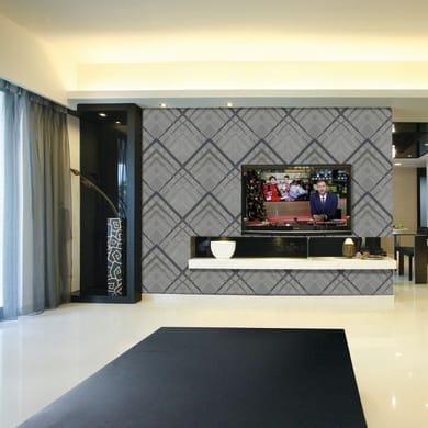 Mosaico Check H 60.5 x L 124.4 cm grigio chiaro/grigio scuro