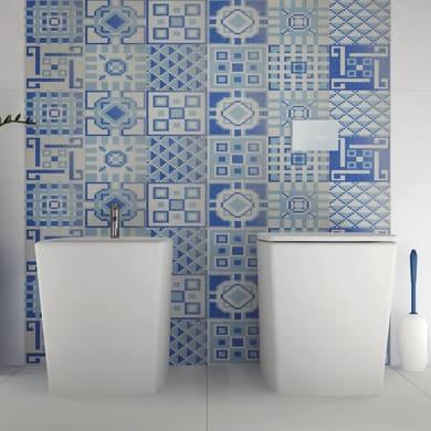 Mosaico Cement Blu H 59 x L 178 cm blu/bianco