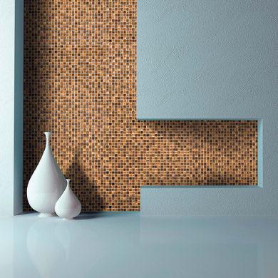 Mosaico Cognac10 H 31.8 x L 31.8 cm marrone