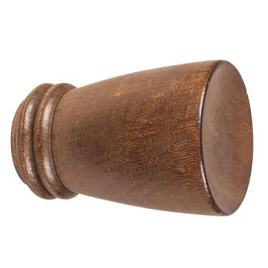Finale per bastone Berlino cono in legno Ø28mm noce verniciato Set di 2 pezzi