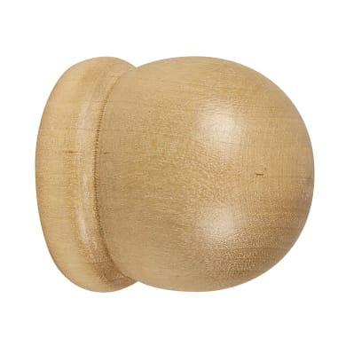 Finale per bastone Parigi sfera in legno Ø28mm rovere naturale Set di 2 pezzi