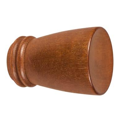 Finale per bastone Londra cono in legno Ø28mm ciliegio verniciato Set di 2 pezzi
