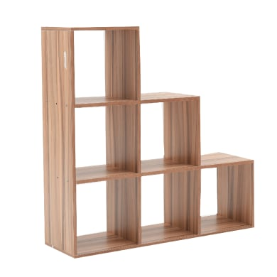 Scaffale in legno in kit 6 ripiani L 97.5 x P 29 x H 97.5 cm