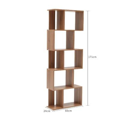 Scaffale in legno in kit 6 ripiani L 60 x P 24 x H 171 cm rovere