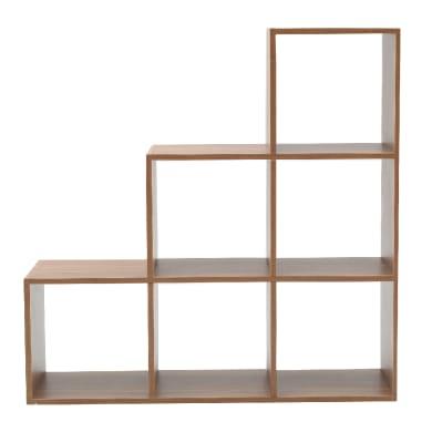 Scaffale in legno in kit 6 ripiani L 97.5 x P 29 x H 97.5 cm rovere