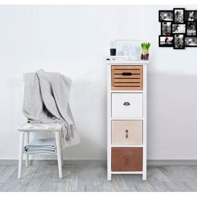 Cassettiera Dolce Casa L 31 x P 27 x H 85 cm bianco