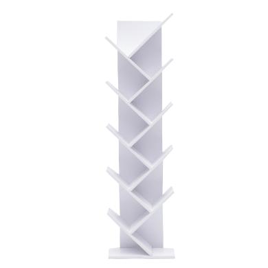 Scaffale in legno in kit 10 ripiani L 44.5 x P 22 x H 164 cm bianco