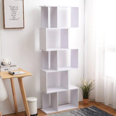 Scaffale in legno in kit 5 ripiani L 60 x P 24 x H 171 cm bianco