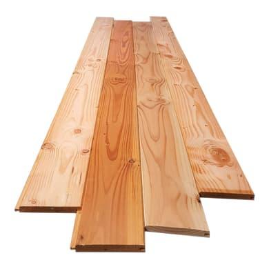 Perlina legno grezzo naturale 2° scelta L 200 x H 10 cm Sp 10 mm