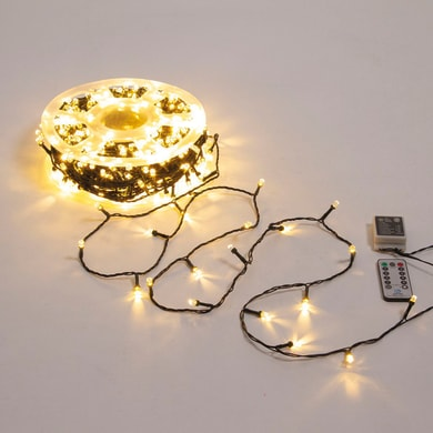 Catena luminosa 500 lampadine LED bianco caldo Maxi 50 cm