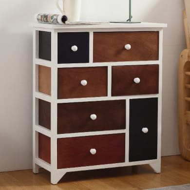 Armadio in legno in kit L 56 x P 27 x H 68 cm bianco, marrone