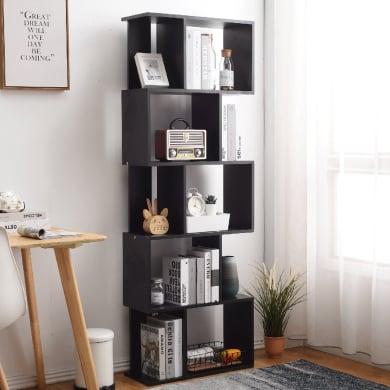 Libreria L 60 x P 24 x H 171 cm nero