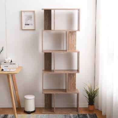 Libreria 5 ripiani L 60 x P 24 x H 171 cm legno