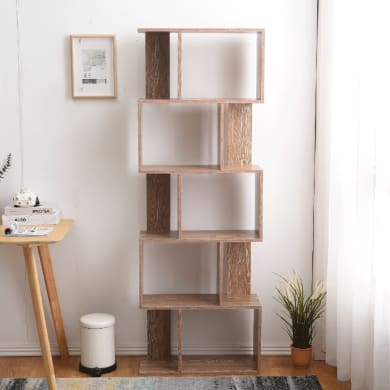 Scaffale in legno in kit 5 ripiani L 60 x P 24 x H 171 cm legno