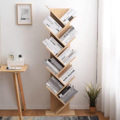 Libreria 10 ripiani L 44.5 x P 22 x H 164 cm rovere