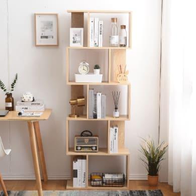 Libreria 5 ripiani L 60 x P 24 x H 171 cm rovere