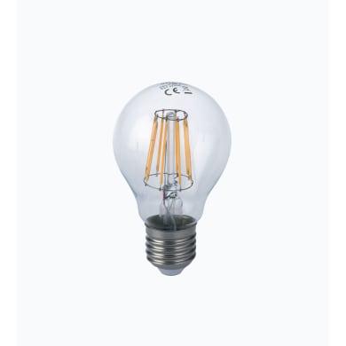 Lampadina LED filamento, E27, Goccia, Trasparente, Luce naturale, 8W=1055LM (equiv 80 W), 300°