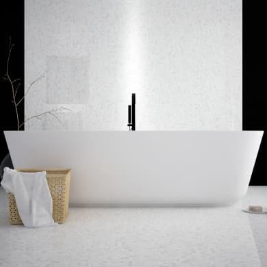 Mosaico H 30 x L 30 cm bianco