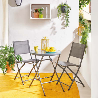 Set tavolo e sedie Emys verde 2 posti
