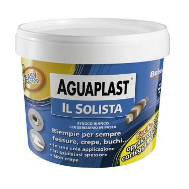 Stucco in pasta AGUAPLAST Il solista 0.25 kg bianco