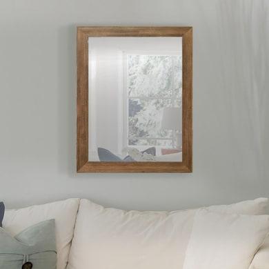 Specchio a parete rettangolare Kate noce scuro 50x70 cm