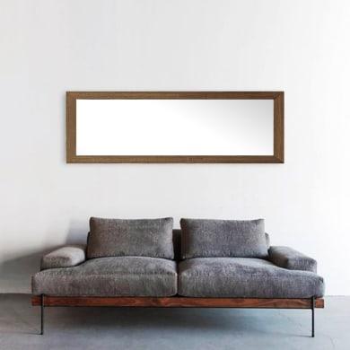 Specchio a parete rettangolare Kate noce scuro 50x150 cm