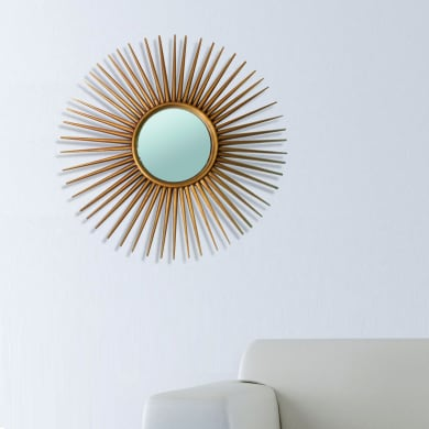 Specchio a parete tondo Sinne grigio 81 cm
