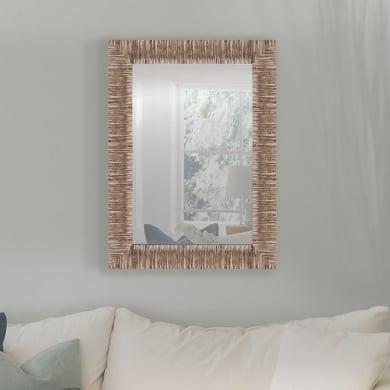 Specchio a parete rettangolare Sughero naturale 68x88 cm