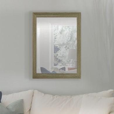 Specchio a parete rettangolare Kate tortora 50x70 cm