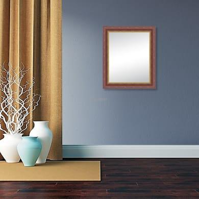 Specchio a parete rettangolare Venezia noce scuro 92x132 cm