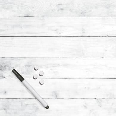 Lavagna White Wood bianco 30x30 cm
