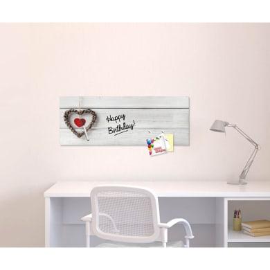 Lavagna Wooden Heart bianco 30x80 cm