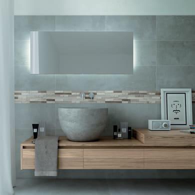 Mosaico H 24 x L 30 cm grigio