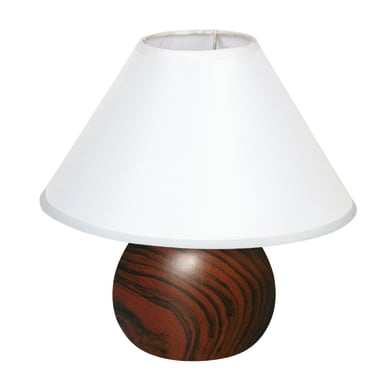 Lampada da comodino Ceram bianco, in tessuto, E14 MAX 40W IP20