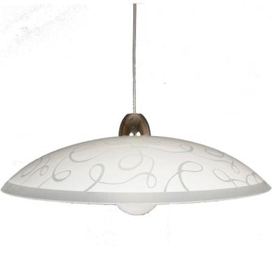 Lampadario Design Filigrana bianco in vetro