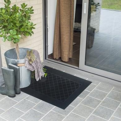 Zerbino Door Mat in caucciù nero 40x60 cm