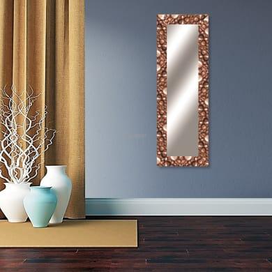 Specchio a parete rettangolare Vesuvio bronzo 58x158 cm