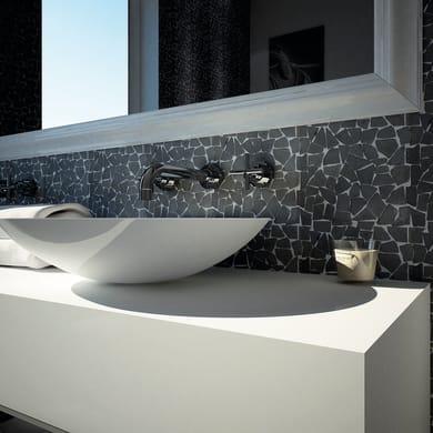 Mosaico H 30 x L 30 cm nero