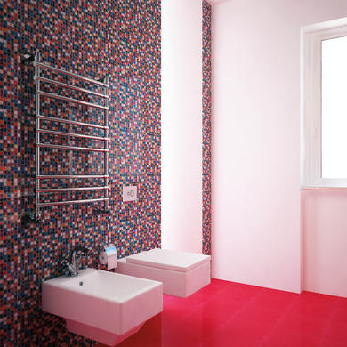 Mosaico H 31 x L 31 cm multicolore