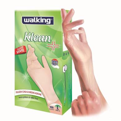 Guanti in vinile WALKING Klean 9 / L , 100 pezzi
