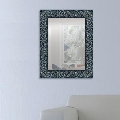 Specchio a parete rettangolare Stone nero 72x92 cm