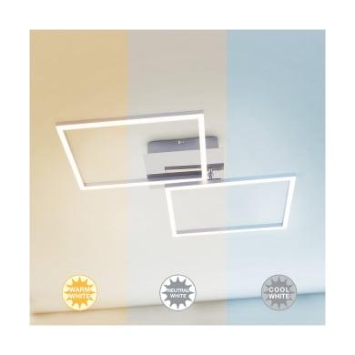 Plafoniera moderno Frames LED integrato cromato lucido50x