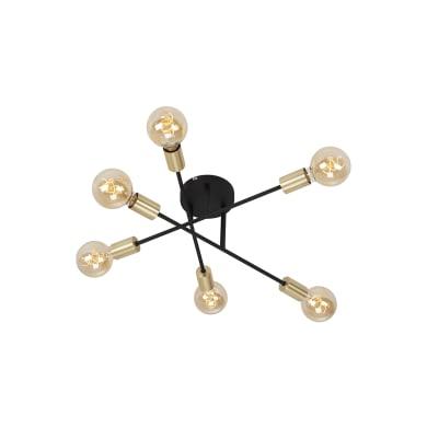 Faretto Blacksteel nero, in metallo, E27 6xIP20