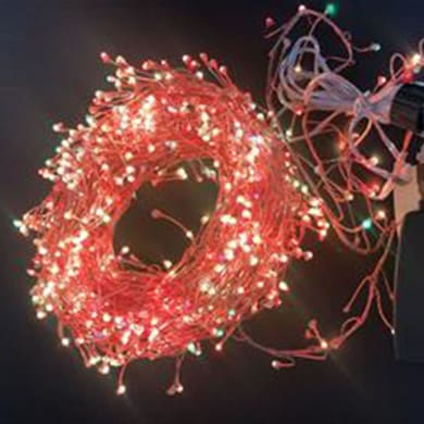 Catena luminosa 400 lampadine multicolore Micro led 900 cm