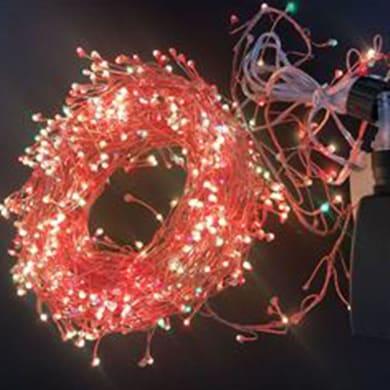 Catena luminosa 600 lampadine multicolore Microled rami 120 cm