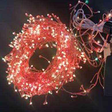 Catena luminosa 500 lampadine multicolore Micro led 1050 cm