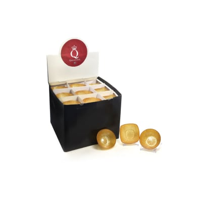 Porta tea light oro H 30 cm,