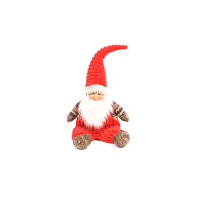 Figura natalizia rosso L 27 x P 18 x H 71 cm