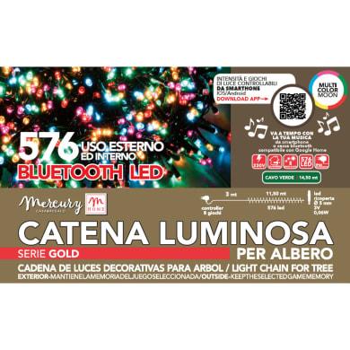 Catena luminosa 756 lampadine multicolore Led 1450 cm