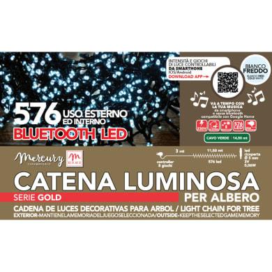 Catena luminosa 576 lampadine bianco Led 1450 cm